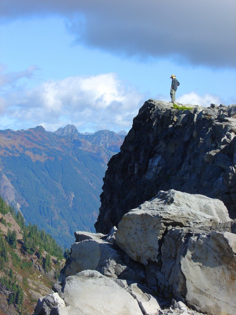 Standing atop Table Mountain in Washington State